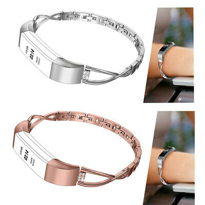 Lady Stainless Steel Band Strap Bracelet Watch Bands For Fitbit Alta HR CA