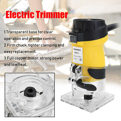 600W 30000r/min Electric Trimmer Wood Router 6.35mm Trimming Cutting Tools T7C0