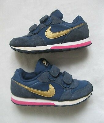 NIKE TAILLE 28,5 Cuir Chaussures Baskets fille FERMETURE SCRATCH 28