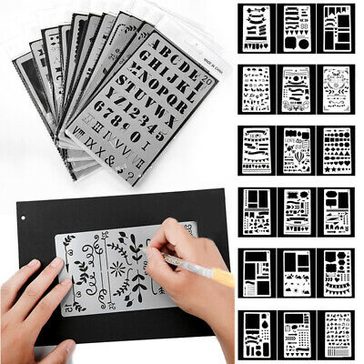 Lot 20pcs Bullet Journal Stencil Plastic Planner DIY Drawing Template Diary Kit