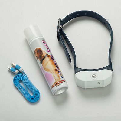 Rechargeable Stop Barking Citronella Dog Collar Anti Bark Training Mist Spray BH