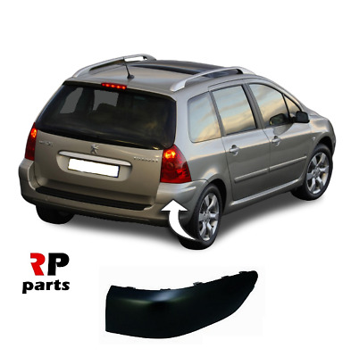 ESTATE REAR BUMPER MOULDING TRIM PRIMED RIGHT O//S PEUGEOT 307 2001-2007