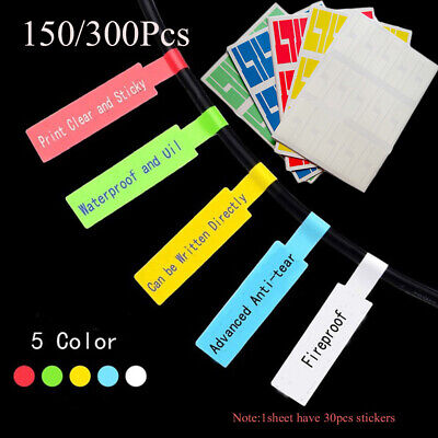 Hot Self-adhesive Cable Sticker Waterproof Identification Tags Labels Organizers