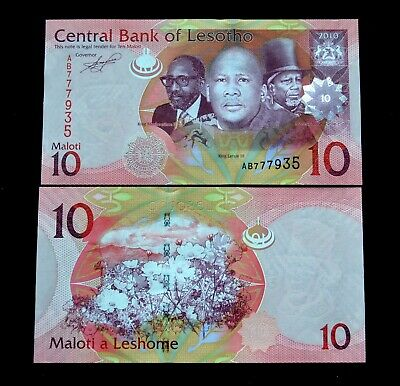 LESOTHO 10 Maloti  2010 P-21a UNC BANKNOTE PAPER MONEY CURRENCY AFRIKA Cosmos