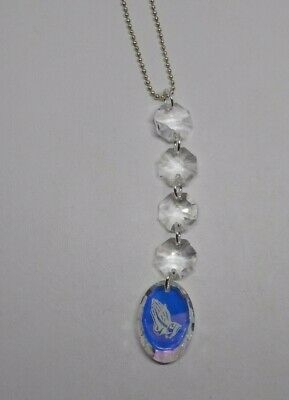 Swarovski Crystal Clear AB 24mm Praying Hands Oval 6127 Suncatcher/ Ornament