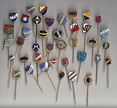 enamel SWEDEN FOOTBALL TEAM stick pin badges Fotboll Sverige