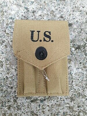 Repro US Army WW2 Webbing M1923 Colt 45 M1911 Magazine Pouch NEW Canvas Webbing