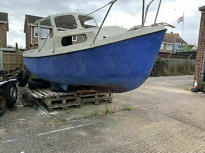 Aquastar 18ft Fishing Motor Boat & Trailer (Project) with inboard Yanmar Diesel