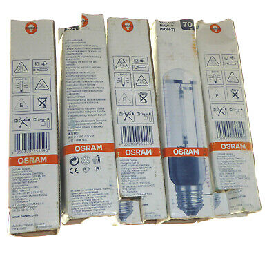 5 x 70W High Pressure Sodium Lamp E27 SON-T HPS OSRAM 70 watt