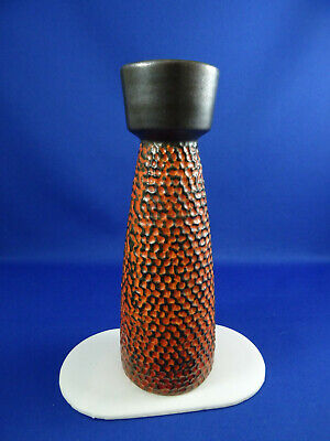 Vintage West German Scheurich Pottery Honeycomb Vase Art Pottery