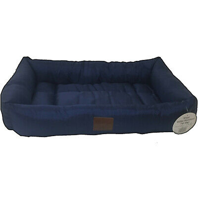 New Small Blue Tempar Luxury Water Resistant Soft Dog Cat Pet Basket Bed Cushion