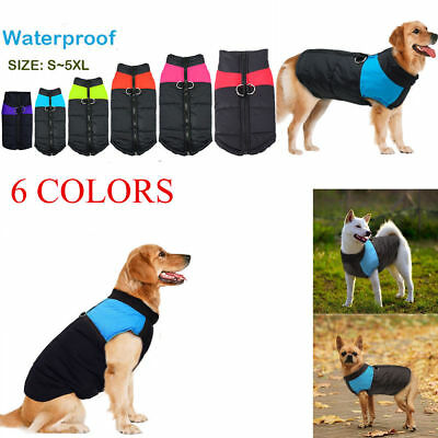 Pet Dog Cotton Padded Vest Coat Jacket Winter Apparel Warm Clothes Waterproof