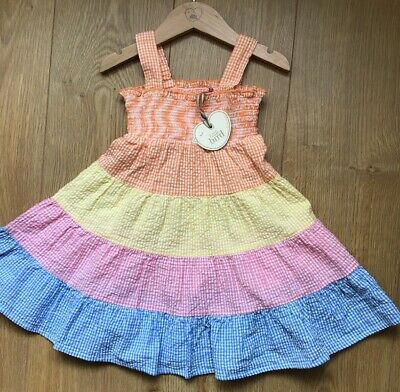 Little Bird by Jools Oliver Gingham Smock Dress 9-12 Months 🌈bnwt 🌈