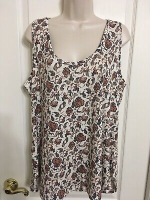 104f14d2bda ABOUND TANK TOP Sleeveless Double Scoop Neck Floral Print - $5.24 ...