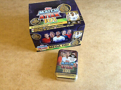 Topps Match Attax 101 The Best Players! Trading Card Game Mega Tin Match Attax