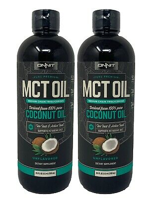 ONNIT (2 Pack) Premium MCT Oil 100% Pure Coconut Oil Unflavored Keto Diet