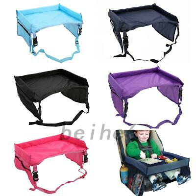 New Waterproof Baby Kids Toddler Car Seat Food Snack Play Travel Tray Lap Table