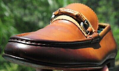 a7902fe6f GUCCI Bamboo Bit Driving Loafer burnished Brown Leather Sz 9.5 UK (10.5US)