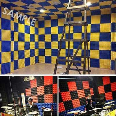 50x50cm Soundproof Acoustic Sound Insulation Stop Absorption Studio Foam S R4X6