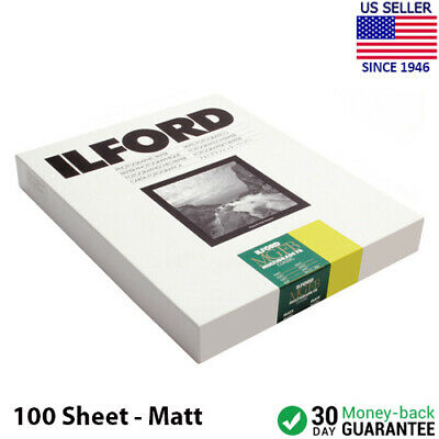 "Ilford Multigrade MGIV FB Black & White Paper 8 x 10"" Matte 100 Sheets 1833919"