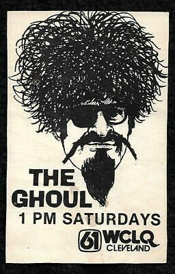 """Vintage Ron """"The Ghoul"""" Sweed Cleveland Detroit Horror Host 1980S Postcard"""