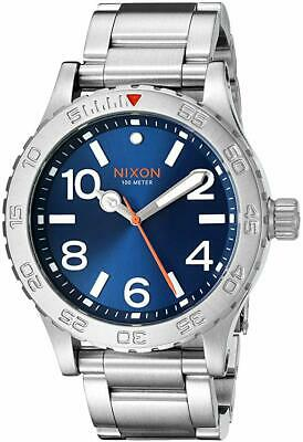 NIXON The 46 Watch Stainless Silver Blue Dial 46mm NEW! A9161258 NEW! $300