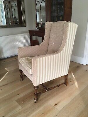 Antique Wing back Armchair completely reupholstered a year ago