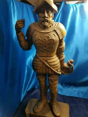 """WOOD CONQUISTADOR """"One of a kind"""" CARVED (079649701)"""