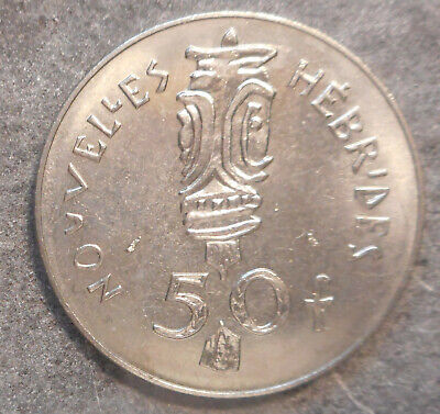 New Hebrides 1978 50 Franc  Coin  aUNC/UNC light tone
