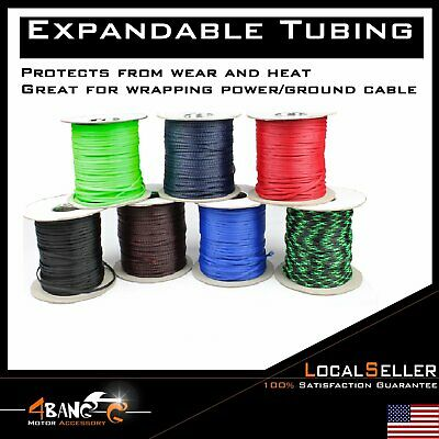 black expandable wire cable sleeving braided tubing weave protector guard  lot
