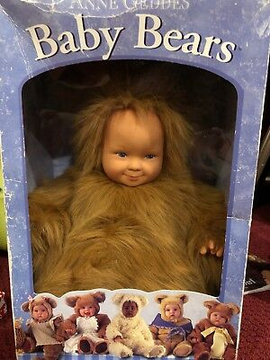 New With Tags Punctual Vintage No Box! Anne Geddes Baby Bear Bean Filled Doll