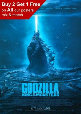 Godzilla King Of The Monsters 2019 Movie Poster A5 A4 A3 A2 A1
