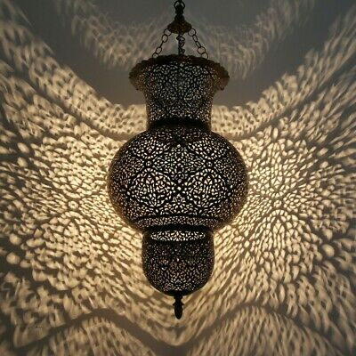 Antique Style Moroccan Hanging Oriental suspension lamp brass handmade Chandelie