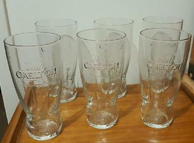 Carlton Draught Exclusive Beer Glasses, Hotel Grade ~  Pint NEW, (6 pack)