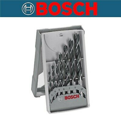 Bosch X-Pro Wood Drill Bit Set x7 Piece Brad Point 3 4 5 6 7 8 10 mm Plywood MDF