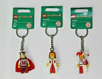 Lego Kingdoms Jester Princess King Minifigure Keychains NWT New 2010 Key Chain