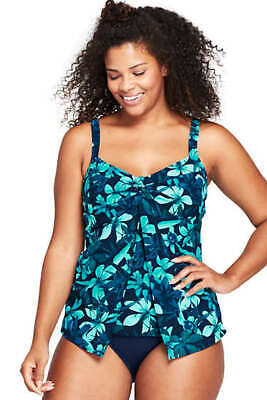 1702050e72a02 NEW Lands End Shaping Tankini Top Tummy Control Deep Sea Orchid 16W 18W 24W