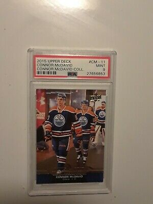 CONNOR McDAVID 2015 Upper Deck NHL card- Connor McDavid Collection- CM11- PSA 9