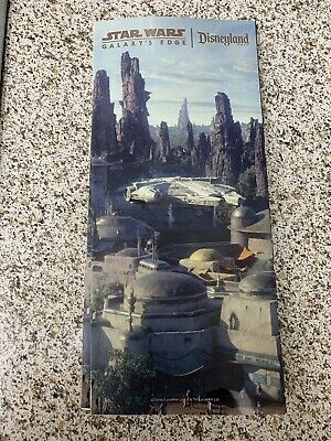 (3) Disneyland Resort Star Wars Land Galaxy's Edge Opening Day Park Map Limited
