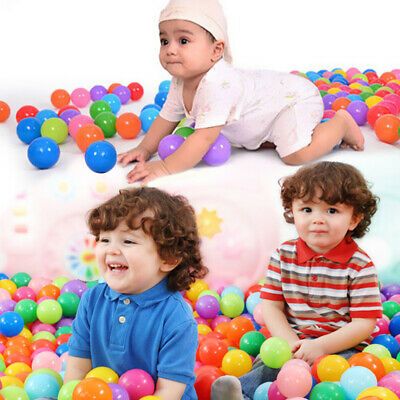 20 Colorful Soft Fun Balls Plastic Ocean Ball Baby Kids Swimming Pit Pens Toy