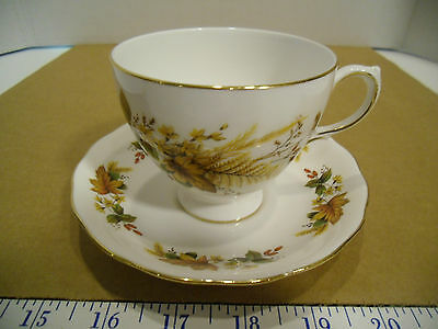 English Queen Anne Bone China Tea Cup & Saucer Set, Pattern #8219 - EUC