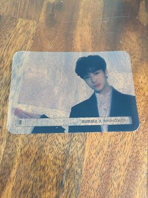 MONSTA X Hyungwon Authentic  Official Photocard Beautiful 1st Album Beside Vers.