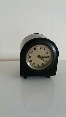 Arch Topped Miniature 30 Hour Bedside Clock.circa 1930-1940. Working Order.