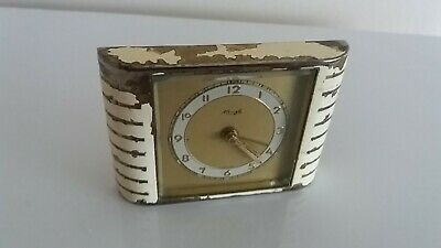 """ Keinzle "" German, Art Deco, Miniature  30 Hour Bedside Clock.circa 1930-1940"