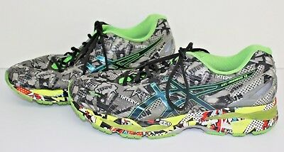 e113092c55 ASICS GEL-NIMBUS 18 Carbon/Black/Green Gecko Running 12 1/2 Shoes T6K4N-9790