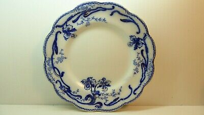 Johnson Bros Pottery China Flo Blue Plate  Del Monte Floral Pattern Antique