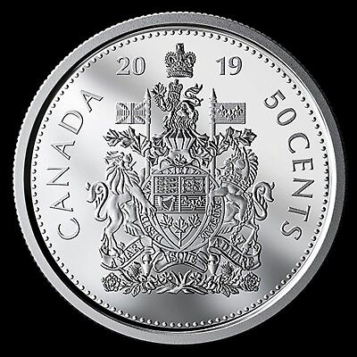 2019 Canada Pure Silver Proof Coat of Arms 50 cent Low Mintage of 15,000