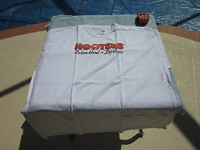 Huge Hooters Las Vegas Casino Owl Cotton Tee Shirt 4Xl Crew Neck Box Stains