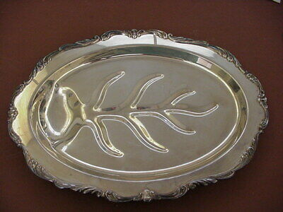 Vintage Towle Silver Footed Tray E.P.