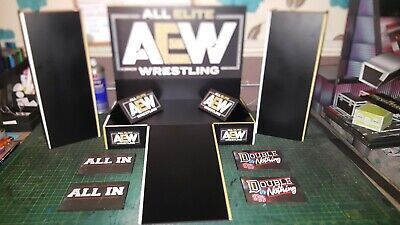 Mattel Scale AEW Stage Display For Wrestling Figures. WWE/TNA/ROH